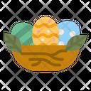 Easter Egg Nest Icon
