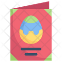 Easter Egg Greeting Card Icon