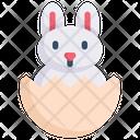 Easter Egg Rabbit Icon