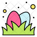 Easter Eggs Grass Hunt Icon