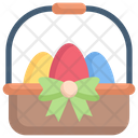 Easter eggs in a basket Icon