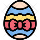 Easter Eggs With Ribbon Icon
