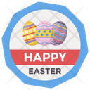 Happy Easter Badge Easter Emblem Vector Easter Logo Icon