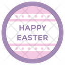 Easter Emblem Vector Happy Easter Badge Easter Logo Icon