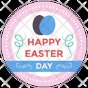 Easter Emblem Vector Easter Emblem Easter Logo Icon