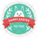 Easter Emblem Design Icon