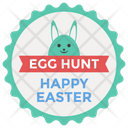 Happy Easter Badge Easter Emblem Design Easter Logo Icon