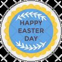 Easter Emblem Design Happy Easter Badge Easter Emblem Icon