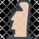 Chile Easter Island Moai Icon
