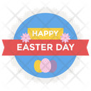 Easter Logo Vector Happy Easter Badge Easter Emblem Icon