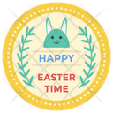 Easter Logo Design Happy Easter Badge Easter Emblem Icon