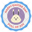 Happy Easter Badge Easter Emblem Easter Logo Design Icon