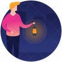 Easter Night Starry Night Night Time Icon