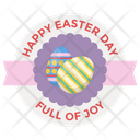 Easter Sticker Badge Happy Easter Badge Easter Emblem Icon