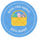 Easter Sticker Design Happy Easter Badge Easter Emblem Icon