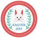 Easter Sticker Design Icon