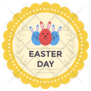 Easter Sticker Stamp Easter Emblem Easter Logo Icon