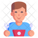 Foodie Happy Person Eating Icon