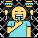 Eating Disorder Binge Eating Chicken Drumstick Icon