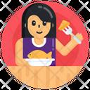Eating Food Eating Meal Foodie Icon