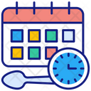 Eating Schedule Eating Food Icon