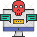 Eavesdropping Cyber Attack Attack Icon