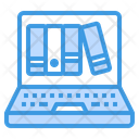 Laptop Book Library Icon