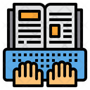 Ebook Learning Open Book Icon
