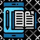 Ebook Smartphone Agenda Icon