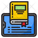 Mobilephone Book Learning Icon