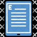 Ebook Tablet Device Icon