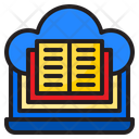 Ebook Online Learning Cloud Icon