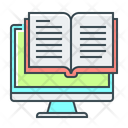 Ebook Online Library Library Education Icon