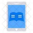 Mobile Books Ebooks Education Icon