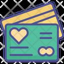 Ecard Heart On Card Love Card Icon