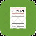 Eceipt Bill Billing Icon