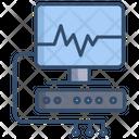 Ecg Machine Ventilator Machine Cardiogram Machine Icon