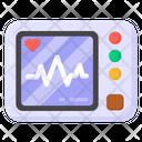 Electrocardiogram Ecg Machine Ecg Monitor Icon