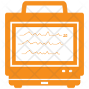 Ecg Analytics Diagram Icon