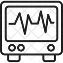 Ecg Lines Monitor Icon