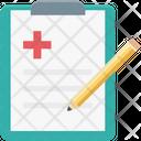 Electrocardiogram Prescription Medical Report Icon