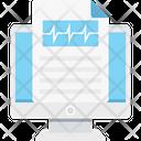 Ecg Report Electrocardiogram Prescription Icon