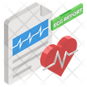 Ecg Report Healthcare Report Document Icon