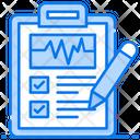 Ecg Report Prescription Document Icon