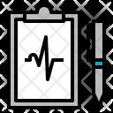 Ecg Result Heart Icon