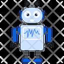 Ecg Robot Bionic Man Humanoid Icon