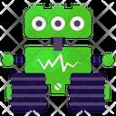 Ecg Robot Medical Robot Bionic Man Icon