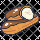 Eclair Cream Cake Icon