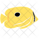 Eclipse Butterfly Fish Sea Creature Animal Icon