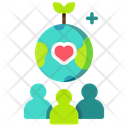Eco Social Awareness Icon